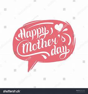 Hand Lettering Typography Poster Happy Mother'S Day In ...