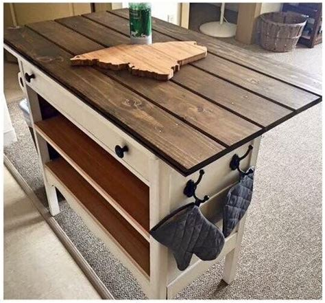 repurposed kitchen island dresser into island i m so trying this o 1885