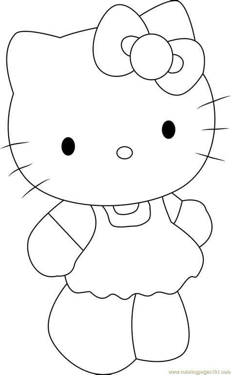 cute  kitty coloring page   kitty coloring pages coloringpagescom