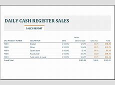 Daily, Weekly & Monthly Sales Report Templates Word