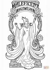 Coloring Maleficent Nouveau Printable Drawing Crafts Paper sketch template