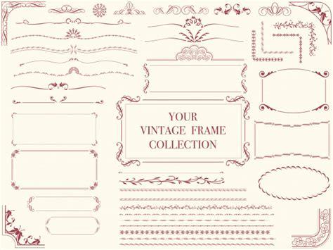 Cornici Vintage Un Set Di Cornici Vintage Assortiti Illustrazioni