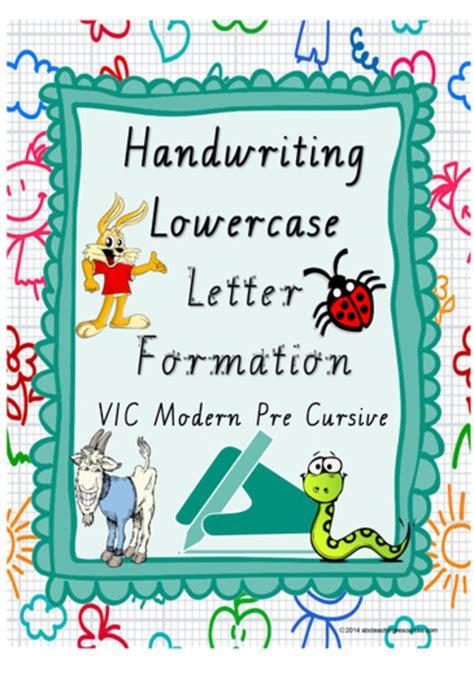 year  handwriting letter formation vic modern precursive