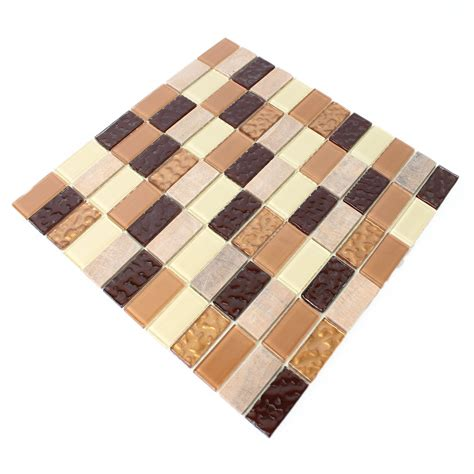 self adhesive glass mosaic tiles mix tm33429