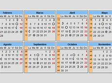 Calendarios del embarazo Calendarios para embarazadas