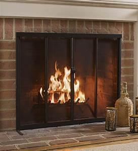 Fireplace, Screen, With, Sliding, Doors, 38, U0026, 39, U0026, 39, X, 31, U0026, 39, U0026, 39, Bronze, -, Walmart, Com