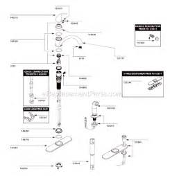 moen kitchen faucet repair diagram moen ca87480 parts list and diagram ereplacementparts