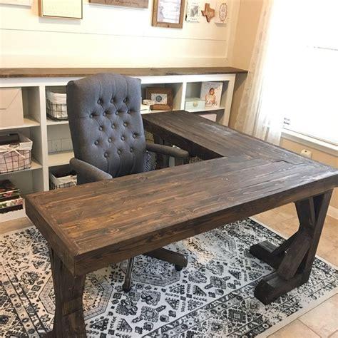 diy l shaped desk plans pottery barn inspired desk diy office makeover desks