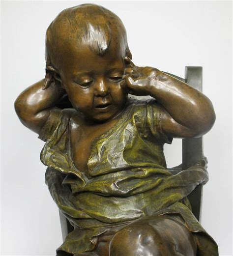 chaise assis 19th century patinated bronze sculpture quot l 39 enfant