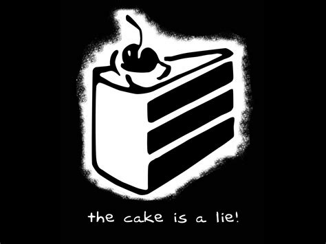 the cake is a lie gaming meme history youtube