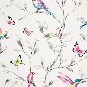 Buy John Lewis Hummingbird Trees Wallpaper, Multi John Lewis