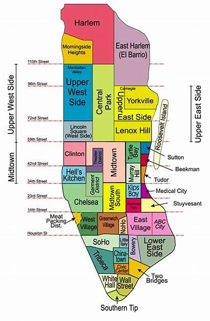 Manhattan Map Park Battery York Nyc Parking
