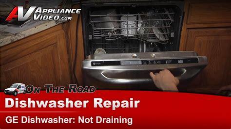 ge dishwasher repair  draining pdwtpss youtube