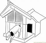 Doghouse Dogs Coloringpages101 Printable sketch template