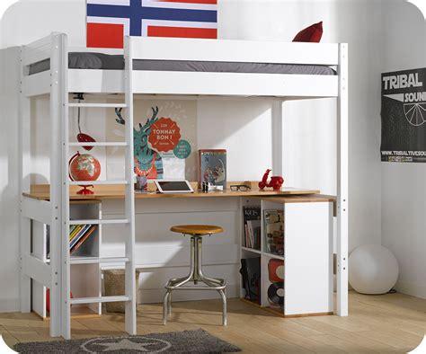 lit mezzanine avec bureau but lit mezzanine clay blanc avec bureau