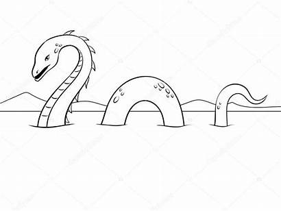 Loch Ness Monster Nessie Coloring Monstre Mostro