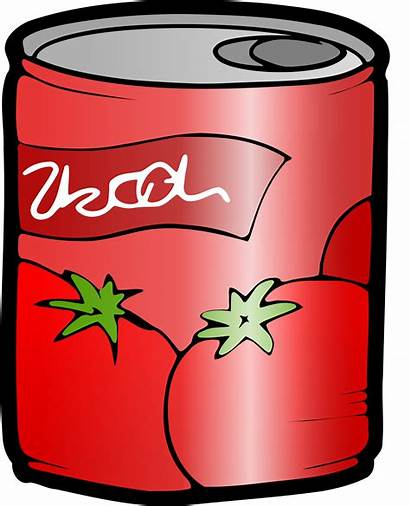 Tomato Juice Clipart Soup Vector Cans Domain