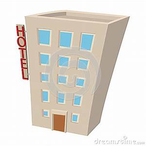 Hotel Building Cartoon Icon Stock Vector - Image: 79755114