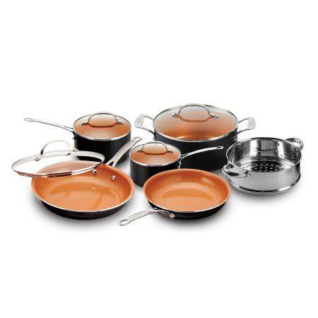 gotham steel  piece nonstick copper chefs frying pan cookware set  cooking shop
