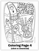 Cheese Coloring Stinky Maclarry Battle Veggietales Kilts Veggie Stilts Sheet Tales Christmas Operation Child Printable Pages Sheets Song Party Silly sketch template