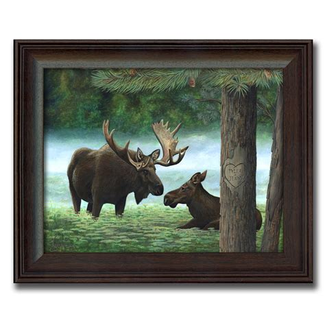 Personalized Moose Print