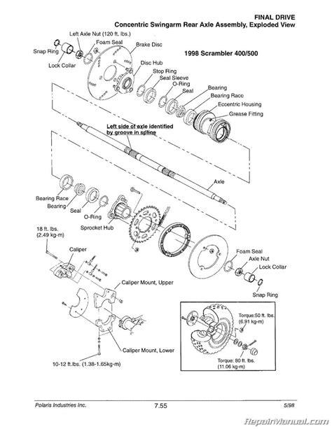 Wiring Diagram For 97 Polari 425 Magnum by 1996 1998 Polaris Atv And Light Utility Vehicle Repair
