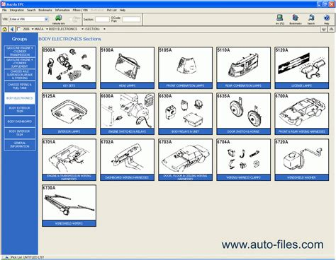 Mazda Usa 2009 Spare Parts Catalogs Download Electronic