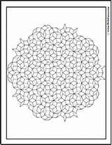 Coloring Geometric sketch template