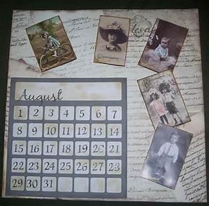 Kalender Selber Basteln Ideen : kalenderblatt mit vintagefotos bastelfrau ~ Orissabook.com Haus und Dekorationen