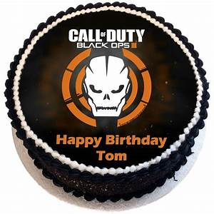 Black Ops 3 Birthday Cake - Flecks Cakes