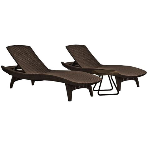 chaise table keter pacific whiskey brown all weather adjustable resin