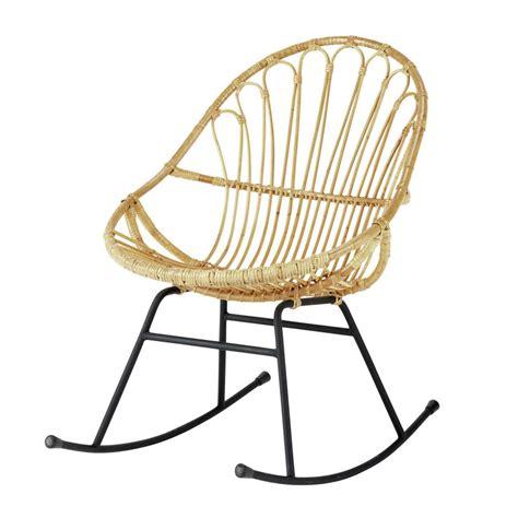 fauteuil  bascule en rotin petunia maisons du monde