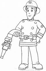 Coloring Printable Firefighter Fireman Fire Fighter Getdrawings sketch template