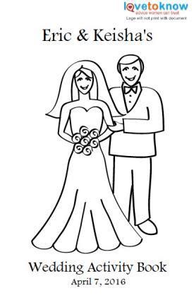 printable wedding activity book  kids