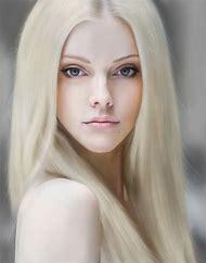Digital Art Girl with Blonde Hair
