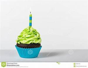 Birthday Cupcake stock image. Image of celebrate ...
