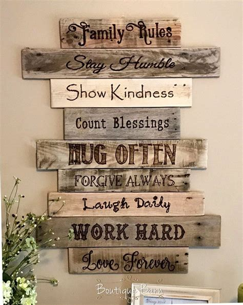 family rules christian home decor home inspiration