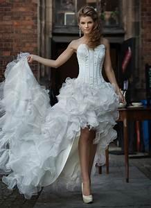 Robe Mariée 2016 : robe de mariee courte devant longue derriere 2016 tendance ~ Farleysfitness.com Idées de Décoration