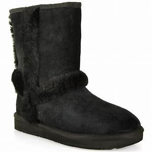 Ugg Boots : lyst ugg suede shearling boot in black ~ Eleganceandgraceweddings.com Haus und Dekorationen