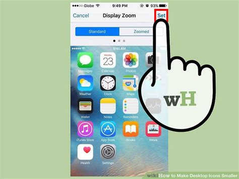 how to make pictures smaller on iphone 5 ways to make desktop icons smaller wikihow