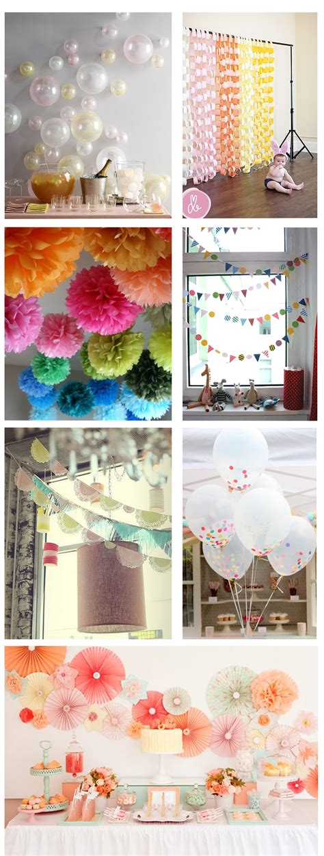 ideas for home made party decorations