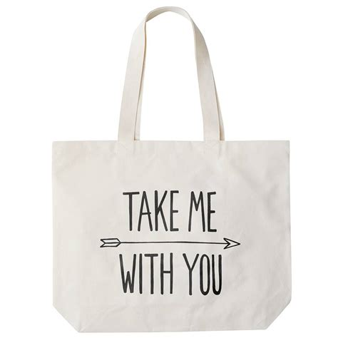 take me with you big canvas bag by alphabet bags