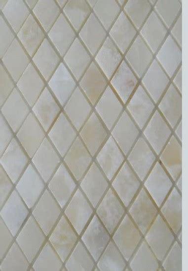 white onyx diamond polished mosaics meshed