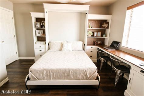 murphy bed bookcase plans diy modern farmhouse murphy bed how to build the bed and