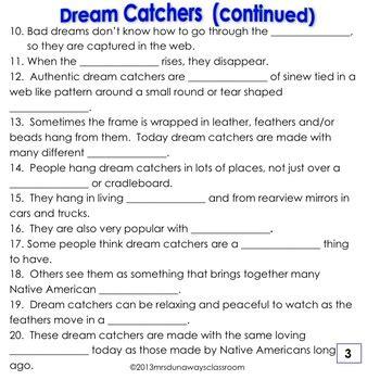 native american dream catchers   dunaways classroom tpt