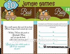 Jungle Animals Baby Shower Games - Cupcakemakeover