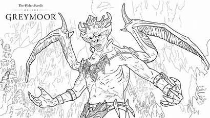 Coloring Vampire Greymoor Eso 4k Creative Elder