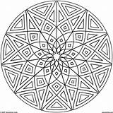 Coloring Kaleidoscope Pages Adults Popular sketch template