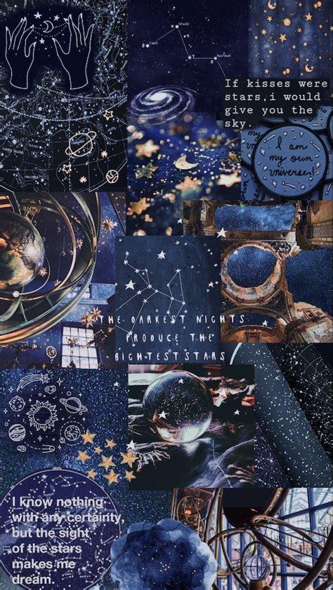 blue aesthetic universe wallpaper