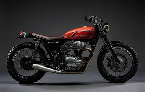 Kawasaki W650 Brat Style Track By 2 Loud #motorcycles